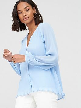V by Very V By Very Pleated Button Through Blouse