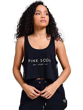 Pink Soda Pink Soda Terra Crop Tank - Black Picture