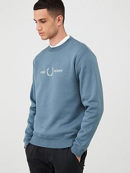 Fred Perry Fred Perry Graphic Sweatshirt - Blue Picture