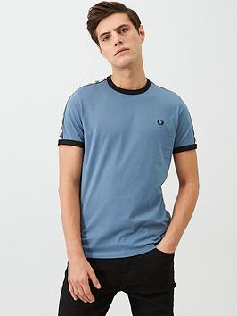 Fred Perry Fred Perry Taped Ringer T-Shirt - Blue Picture