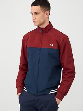 Fred Perry Fred Perry Colour Block Sports Jacket - Navy Picture
