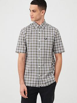 fred-perry-checked-shirt-green