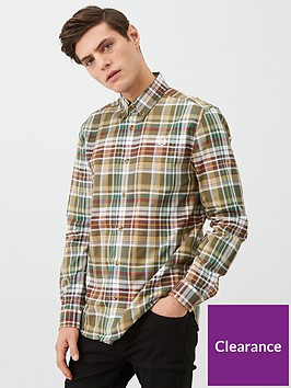 fred-perry-long-sleeved-tartan-shirt-green