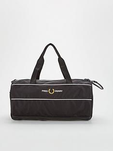 fred-perry-graphic-panel-barrel-bag-black