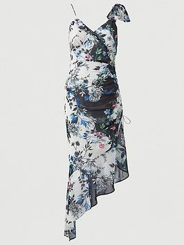 V by Very V By Very Bow Shoulder Midaxi Dress - Floral Picture