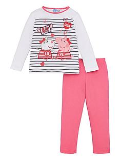 peppa-pig-girls-peppa-glitter-print-striped-pyjamas-multi