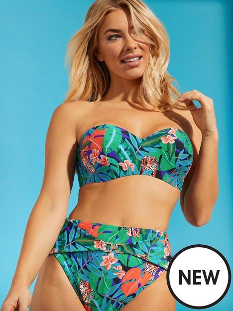 figleaves-costa-rica-underwired-plunge-lace-up-bikini-top-multi