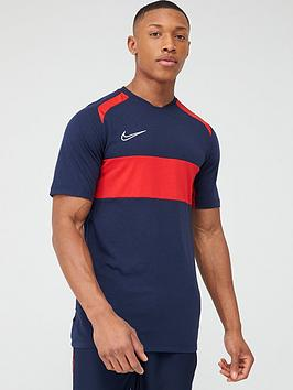 Nike Nike Academy Gx Short Sleeved Tee - Navy/Red Picture