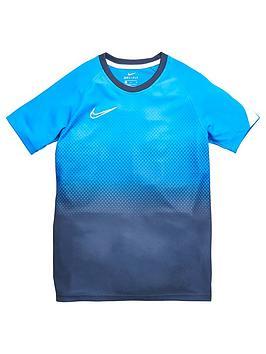 Nike Boys Academy Gx Short Sleeved Tee - Electric Blue