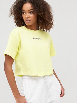 Champion Champion Crewneck Crop T-Shirt - Yellow Picture