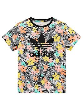 adidas Originals Adidas Originals Adidas Originals Tropical Print Tee -  ... Picture