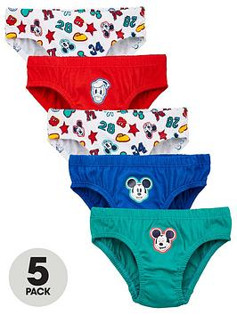 Mickey Mouse Mickey Mouse Boys 5 Pack Briefs - Multi Picture