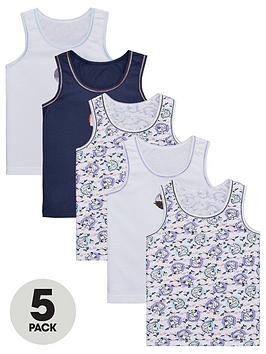 Disney Frozen Disney Frozen Girls Frozen 2 Vest (5 Pack) - Multi Picture