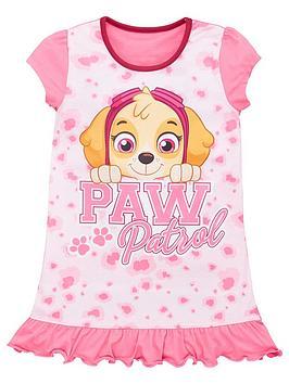 Paw Patrol Paw Patrol Girls Animal Print Nightie - Multi Picture