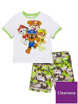 paw-patrol-boysnbspt-shirt-and-camo-short-pjs-multi