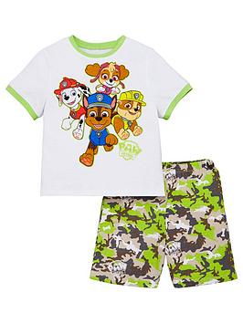 Paw Patrol Paw Patrol Boys T-Shirt And Camo Short Pjs - Multi Picture