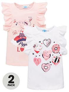 peppa-pig-2-pack-girls-short-sleeve-t-shirts-multi