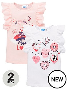 peppa-pig-2-pack-girls-short-sleeve-t-shirts-multi
