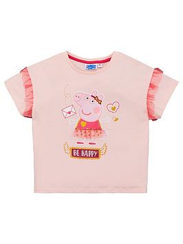 Peppa Pig Peppa Pig Girls Fashion T-Shirt - Pale Pink Picture