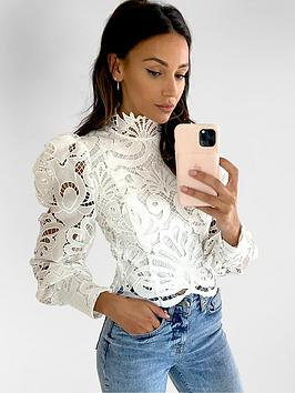 Michelle Keegan Michelle Keegan Premium Lace Blouse - Ivory Picture