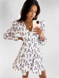 michelle-keegan-premium-lace-trim-skater-dress-floral-print