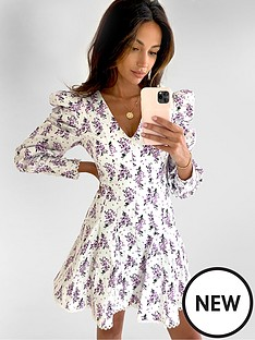 michelle-keegan-premium-lace-trim-skater-dress-floral-print