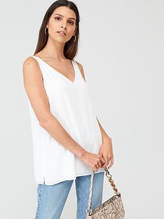 wallis-wallis-core-cami-white