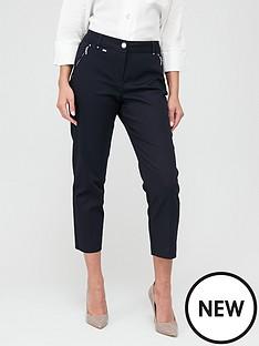 wallis-cotton-crop-trouser-navy
