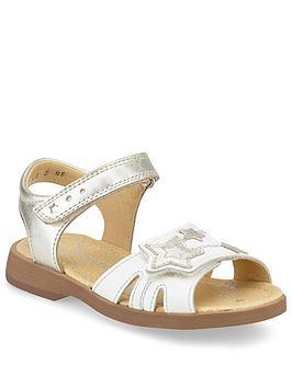 Start-Rite Start-Rite Girls Twinkle Sandals - White Silver Picture