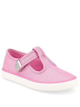 Start-Rite Start-Rite Girls Treasure Canvas Plimsoll - Pink Glitter Picture