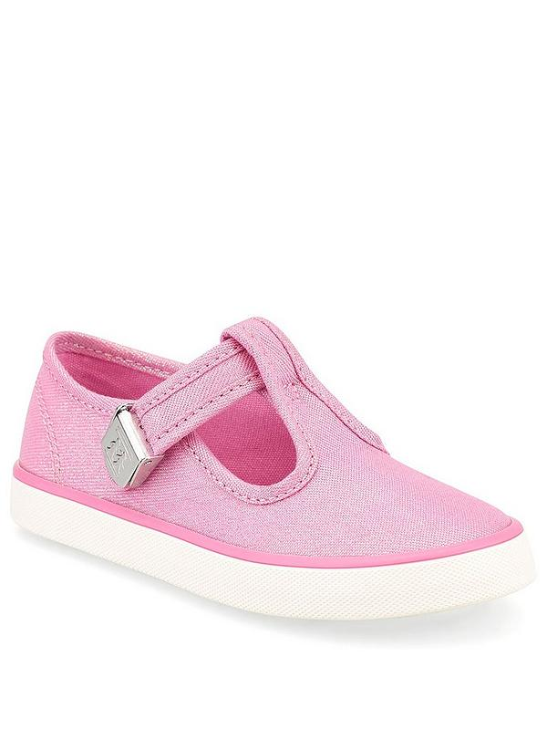 Girs Pink Sequined adjustable fastening shoes CLEARANCE