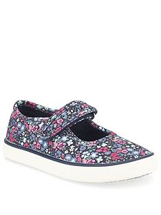 start-rite-girls-blossom-canvas-plimsoll