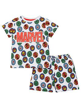 Marvel Marvel Boys All Over Print T-Shirt And Short Pjs - Multi Picture