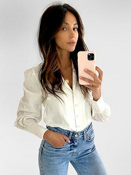 Michelle Keegan Michelle Keegan Blouson Sleeve Linen Shirt - Ivory Picture