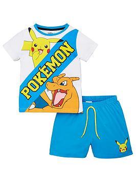 Pokemon Pokemon Boys Pikachu And Charmander Shorty Pyjamas - Multi Picture