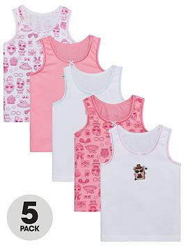 L.O.L Surprise! L.O.L Surprise! Girls Vest (5 Pack) - Pink Picture