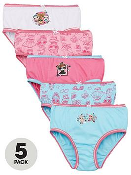 L.O.L Surprise! L.O.L Surprise! Girls Knickers (5 Pack) - Pink Picture