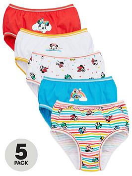 Minnie Mouse Minnie Mouse Girls Knickers (5 Pack) - Multi Picture