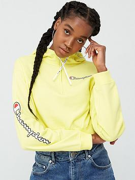 Champion Champion Cropped Hooded Sweatshirt - Yellow Picture