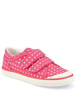 Start-Rite Start-Rite Girls Bounce Canvas Strap Plimsolls - Pink Picture