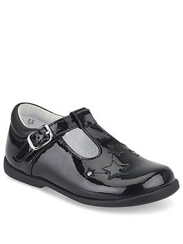 Start-Rite Start-Rite Girls Star Gaze T-Bar Shoes - Black Patent Picture