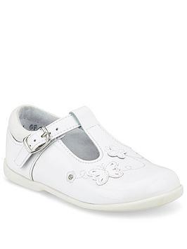 Start-Rite Start-Rite Girls Sunshine T-Bar Shoes - White Patent Picture