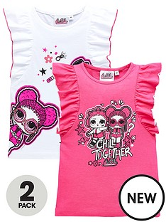 lol-surprise-girls-2-pack-short-sleeve-t-shirts-multi