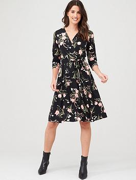 wallis-pretty-tulip-jersey-wrap-dress-black