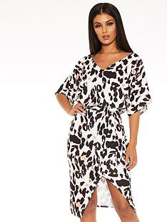 quiz-quiz-scuba-crepe-animal-print-batwing-sleeve-wrap-midi-dress
