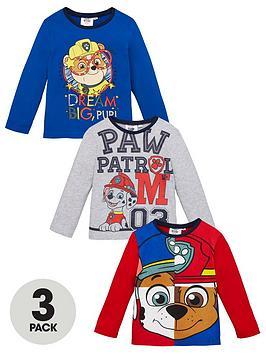 Paw Patrol Paw Patrol Boys 3 Pack Long Sleeve T-Shirts - Multi Picture