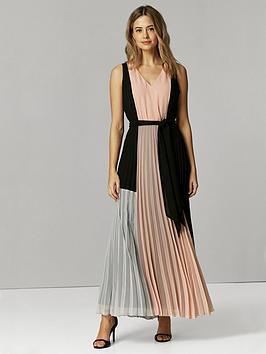 Wallis Wallis Petite Panel Maxi Dress - Blush Picture