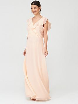 Warehouse Warehouse Frill Wrap Button Maxi Dress Picture