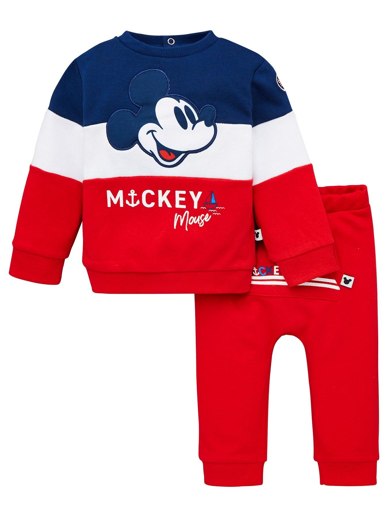 Boys Baby Toddler Disney Mickey Mouse Current Mood Pyjamas Sizes from 6 to 24 Months