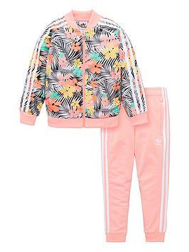 adidas-originals-childrens-floral-tracksuit-pink